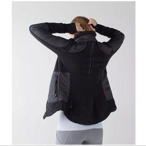 lululemon athletica Jackets & Coats - Lululemon Black Fleecy Keen Jacket ~ Sz 2 ~No Hood